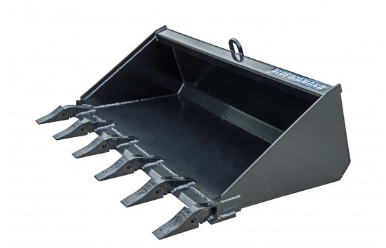 "Bucket, 48"" Low Profile, 15"" Back, Tooth, Mini Uni Mount"