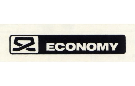 ECONOMY  Decal, ( E-LOWERING SWITCH )  Part ECN/45817-6