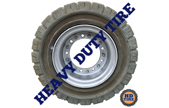 (4) 25x7x12 (180/95-12) Solideal on 9 Hole Wheel, 25712 Tyre Non-Marking 4520208
