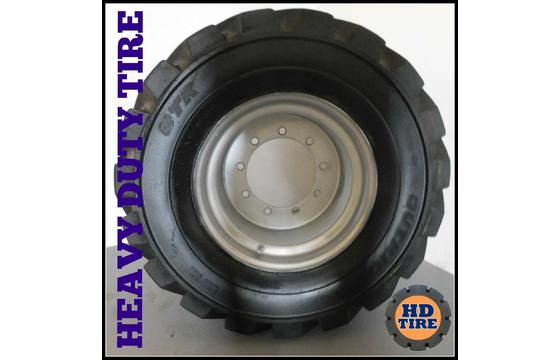 (1) Used Foam Filled 33x15.50-16.5 OTR On 9 Bolt Wheel, 33x15.50x16.5, 33155165