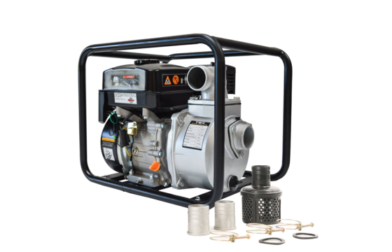 Tomahawk TW3 Portable Multi-Purpose Utility Water Pump with TH75 75 Ft. Hose