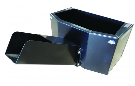 Dispensing Bucket 3/4 Yard Cap With Hydraulic Door Includes Bolt On Chute