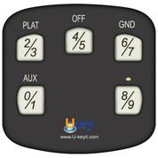 Extra Keypad for Ukey TS1100 BLACK - Part #TS1100-KPBL