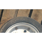 2.00X8 SOLIDMATICO WHEEL WITH BRAKES X 1