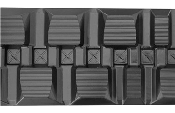 Staggered Block Rubber Track: 400X86X58