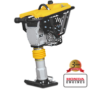 "Tomahawk JX60H Vibratory Tamping Rammer with Honda GX100 Engine, Wheel Kit JX60H-WHEEL and 4"" Shoe JX60H-SHOE4"
