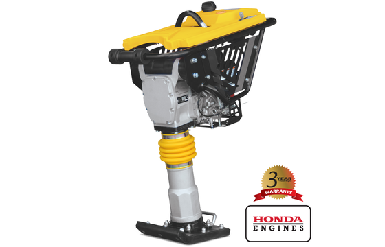 "Tomahawk JX60H Vibratory Tamping Rammer with Honda GX100 Engine, Wheel Kit JX60H-WHEEL and 4"" Shoe JX60H-SHOE4"