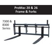"48"" Wide Frame - Promac - 26,000 lbs. Capacity, High Viz, 3"" Fixed Shaft, Non-Swing For Wheel Loaders"