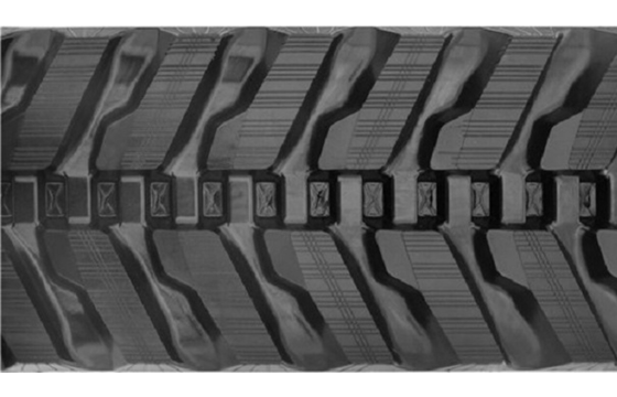 Angled Pad Rubber Track: 300X52.5WX76