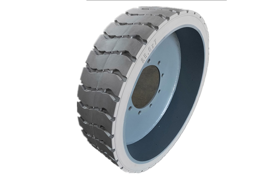 Genie 25.6X7(200.5) Grey 9-Hole Solid Tire & Wheel Assembly - Rear