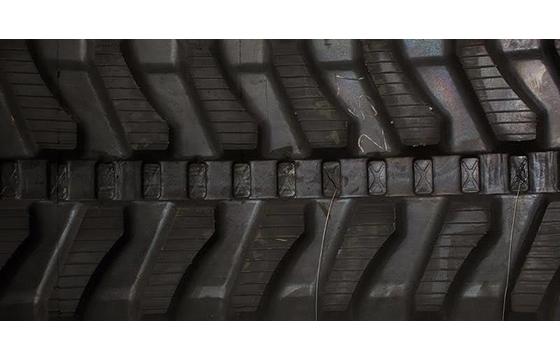 450X81X76 Rubber Track - Fits Takeuchi Models: TB070 / TB175 / TB180FR / TB185, Angled Bar Tread Pattern