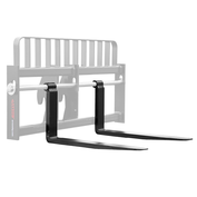 "2X4X60 Genie/Terex/JLG/Gradall Telehandler Fork - Pair, Fits 2"" Shaft, 20.75"" BH, 8K Capacity"