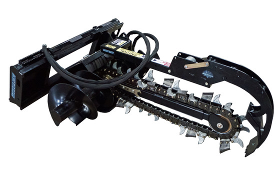 """Trencher, 36"""" Depth, 4"""" Dirt Chain, Includes Crumber (Requires Mount)"""