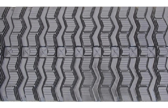 Zig Zag Tread Rubber Track: 400X86X50