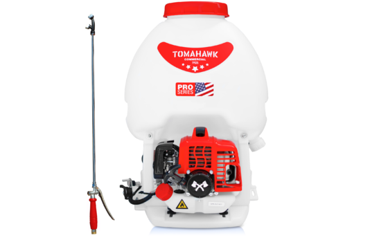 Tomahawk TPS25 Backpack Sprayer with Twin Tip Nozzle and Foundation Gun Attachment