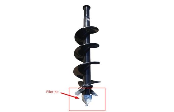 "Auger Pilot Kit - Tungsten - For 2"" Bits (Inc Nut & Bolt)"