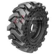 Set of 4 Skid Steer Solid Tire Assemblies: Nu-Air DT 30x10-16R