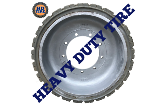 (1) 22x6x17 3/4 Solideal on 9 Hole Wheel, 22617-3/4 Tyre Non-Marking 1001110775