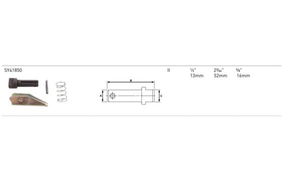 Crown Forklift Fork Pin Kit  Part #CR075027