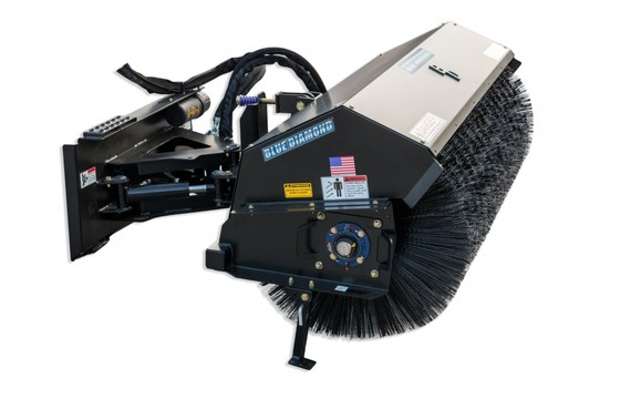 """Broom 84"""" Hydraulic Angle Severe Duty Includes Couplers Harness Sold Separately"""
