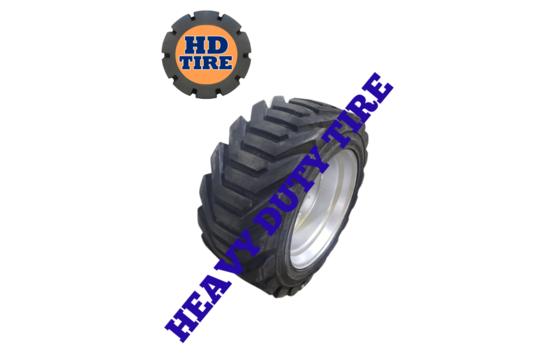 (2) 18-625 OTR New Foam Filled Tires On 10 Bolt Wheels, 18625, 18X625 Tyre