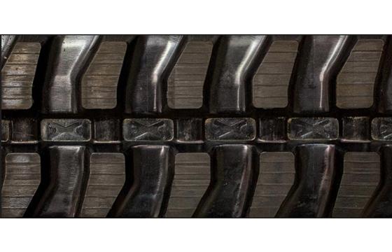 400X72.5X74 Rubber Track - Fits Hitachi Models: EX58Mu / ZX50 / ZX50U, Mini Block Tread Pattern