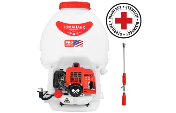 Tomahawk TPS25 Backpack Sprayer with Twin Tip Nozzle and Fogger Attachment