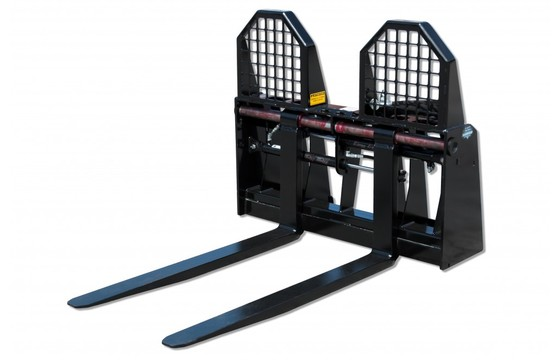 "Pallet Fork, Hydraulic Adjusting 6000# Cap 48"" Tines"