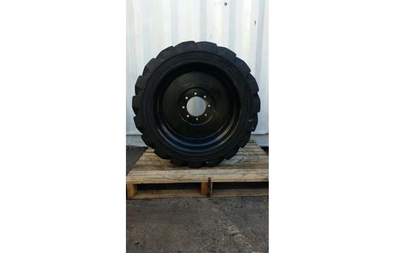 14-17.5 OTR Loader Skid Steer Foam Filled 14 Ply 8 Bolt Wheel x2