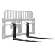 "Gehl Telehandler Shaft Mounted Fork - Pair, 2x4x72, Fits 2"" Shaft, 24"" BH, 8K Capacity"