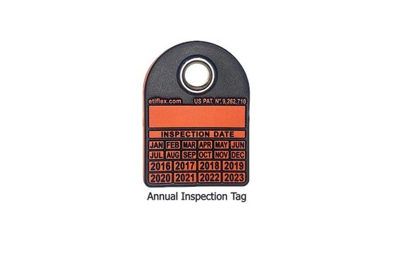 100 Eight-Year Annual Inspection Tags w/ Custom Hole Puncher