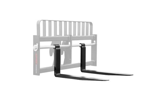 "Genie/Terex Telehandler Forks - Pair 2x4x60, Fits 2.25"" Shaft, 20"" BH, 8K Capacity"