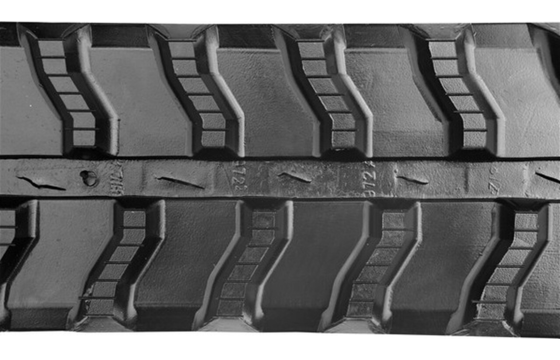 Wavy Bar Tread Rubber Track: 250X72X45