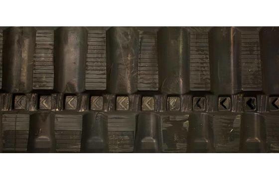 300X55.5X78 Rubber Track - Fits Yanmar Models: VIO27-2 / VIO27-3, Staggered Excavator Block Tread Pattern