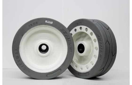 Skyjack 3219 Scissor Lift Wheel & Tire Assembly, 12x4x8 NM Gray - REAR