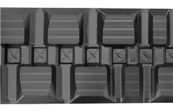Staggered Block Rubber Track: 450X86X60