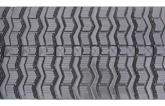 Zig Zag Tread Rubber Track: 450X86X52