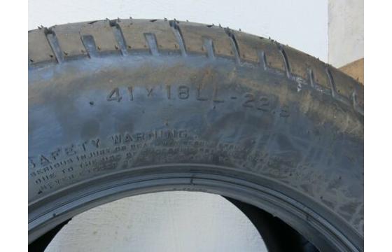 41-18LL-22.5 Galaxy Turf 14 Ply Tire, 41x18LL-22.5, 41, 41x18LLx22.5 Tyre X 1