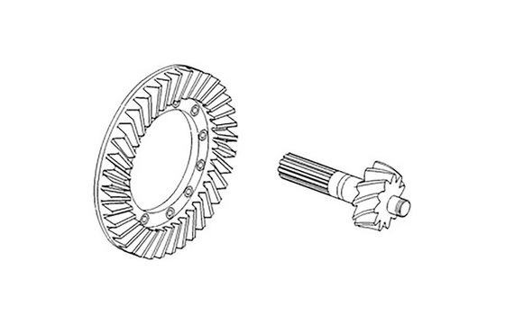 1664255M92 RING & PINION
