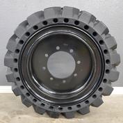 Genie GTH-5519 Black Solid Tire & Wheel Assembly