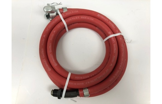 "Pneumatic Whip Hose 6' Length 1/2"" Hose with Swivel & CP Fitting L-3"