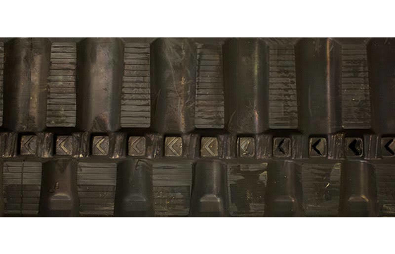 300X55.5X82 Rubber Track - Fits Yanmar Model: B37-2B, Staggered Excavator Block Tread Pattern