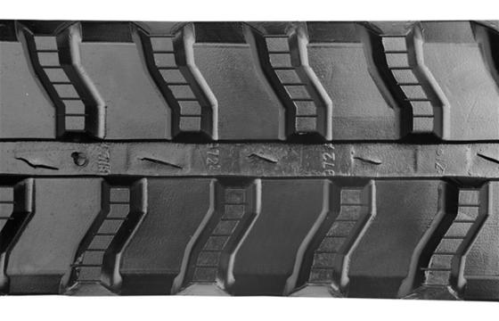 Wavy Bar Tread Rubber Track: 250X72X44
