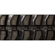 400X72.5X74 Rubber Track - Fits Daewoo Models: Solar 55 / Solar 55V, Mini Block Tread Pattern