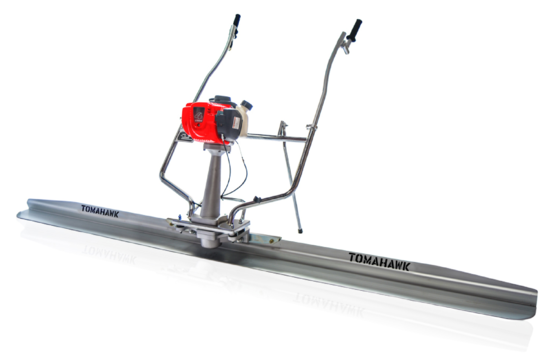 Tomahawk TVSA‐H Vibratory Power Concrete Screed with TSB14‐P 14' Magnesium Blade Board