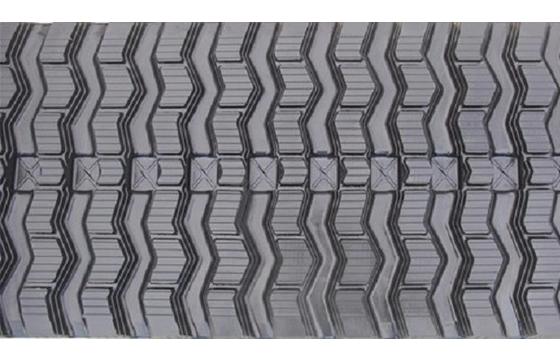 Zig Zag Tread Rubber Track: 600X100X76