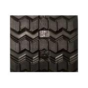 450X86X56 Rubber Track - Fits JCB Models: 300T / 320T / 3TS-8T, ZigZag Tread Pattern