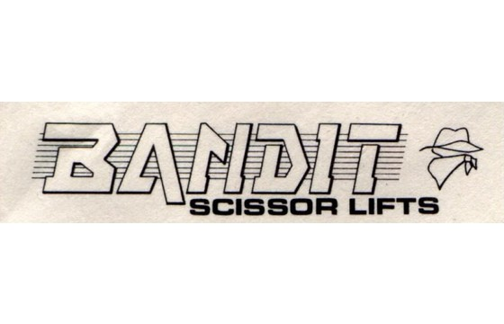 BANDIT  Decal, ( LWR OPERATING INSTRUCTIONS)  Part BAN/31000209-00