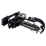 """Trencher, 48"""" Depth, 10"""" Earth Chain, Includes Crumber (Requires Mount)"""