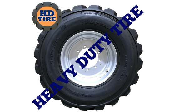 (1) 15-19.5 New Foam Filled OTR On 9 Bolt Wheel Tire, 15x19.5, 15195 Tyre